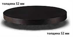 Столешница ДСП+пластик+кромка ПВХ диаметр 900х52 - фото 4337