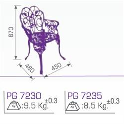 Стул металлический PG 7235 - фото 4562