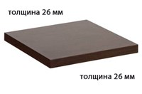 Столешница ДСП+пластик+кромка ПВХ 800х800х26