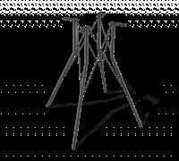 Подстолье металлическое 1717